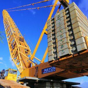 750t crawler crane lifting of generator set